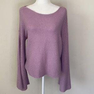 Nordstrom BP Lavender Boatneck Bell Sleeve Sweater Medium